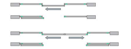 Схемы открывания и доводчик